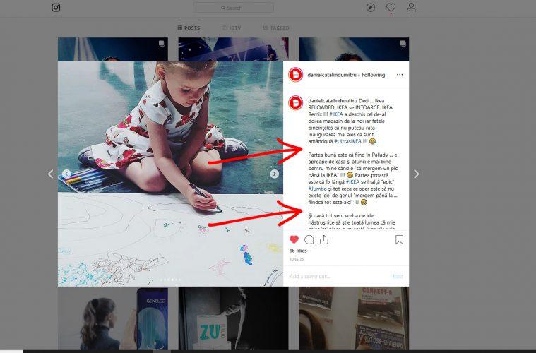 Cum scrii pe Instagram textele cu pauză între paragrafe ??? 😁 (Iulie 2019)